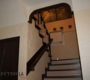 Монолитная лестница с первого на второй этаж.