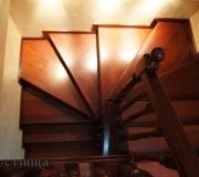 Лестница с забежными или поворотными ступенями