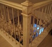 Столбы по лестнице авторской работы