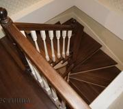 Лестница с забежными - поворотными ступенями