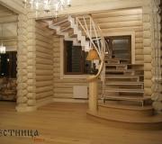 Элитная лестница на металлокаркасе