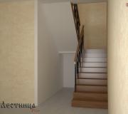 Проект лестницы в многоуровневой квартире.
