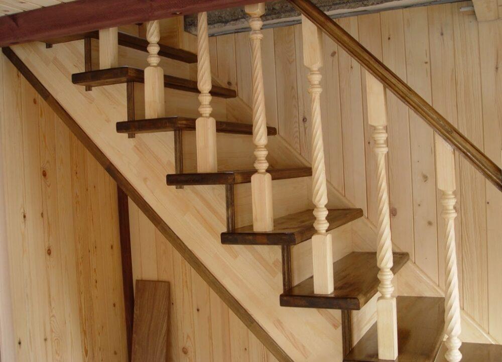 Лестницы из дерева на второй этаж своими руками фото