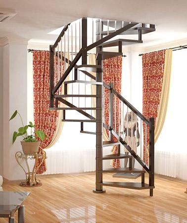 О лестнице с поворотом на 270 градусов