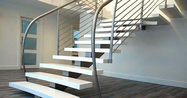 Лестницы комбинированные на второй этаж