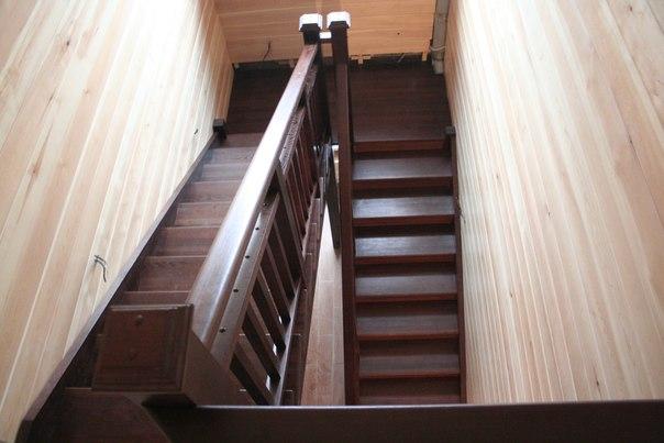 П образная лестница с площадкой