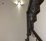 Облицовка монолитной лестницы.