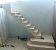 Предварительная сборка в цеху на стапеле, деревянной лестницы