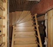 Лестница из хвои