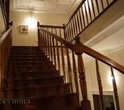 Лестница с гнутым поручнем