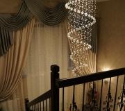 Ограждения по лестнице с элементами холодной ковки