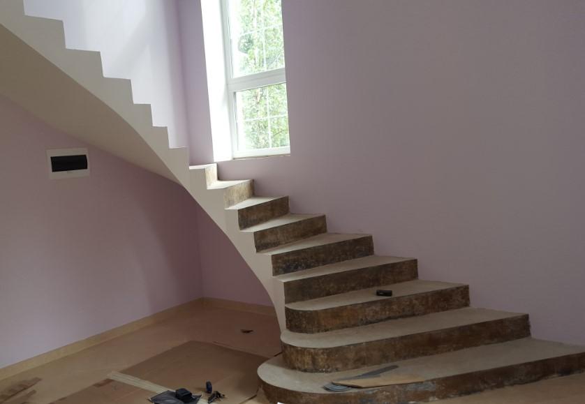 бетонные лестницы под зашивку деревом